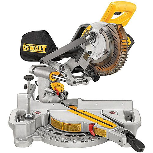 DEWALT 20V MAX 7.25-inch Cordless Sliding Compound Miter Saw Kit with Battery and Charger