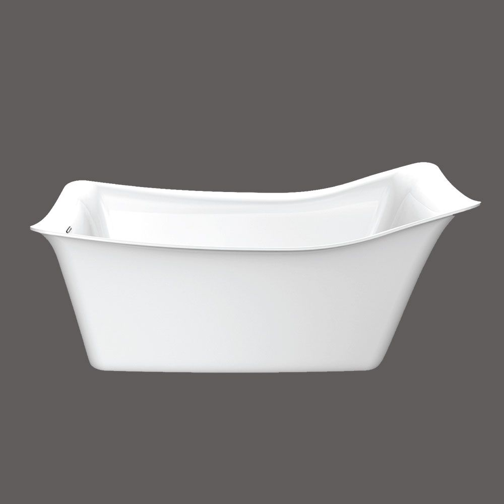 Glam Acrylic Freestanding Bathtub in White
