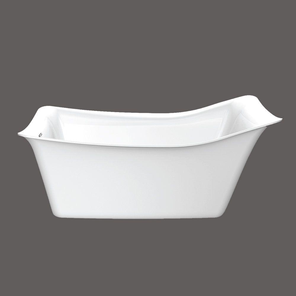 Valley Glam Acrylic Freestanding Bathtub in White