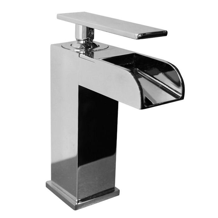 Single-Lever Waterfall Bathroom Faucet