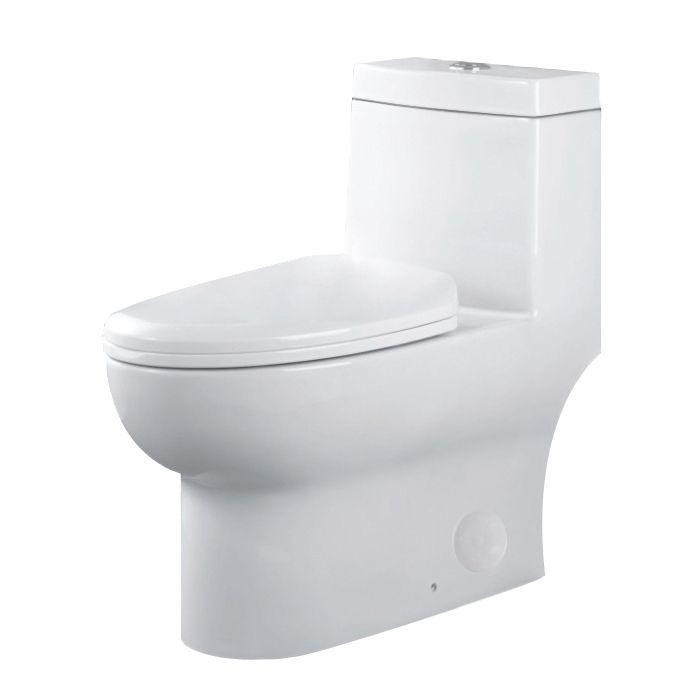 Une pièce WC siphonic double chasse d'eau