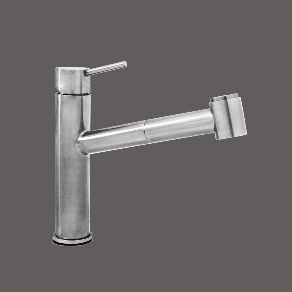 Pure Water Series - Single Side Lever Stainless Steel Kitchen Faucet - Brushed Stainless Steel Fi...
