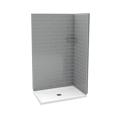 32 inch corner shower. Utile 32 Inch X 48 Corner Shower Stall In Metro Ash Grey MAAX