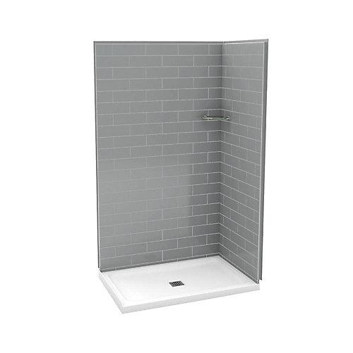 Utile 32-Inch x 48-Inch Corner Shower Stall in Metro Ash Grey