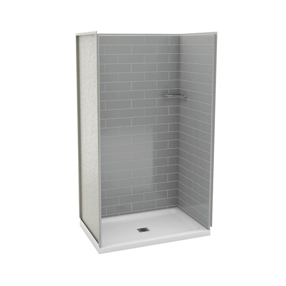 maax utile 32 inch x 48 inch alcove shower stall in metro