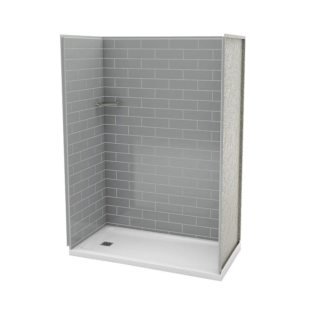 MAAX Utile 32-Inch x 60-Inch Alcove Shower Stall in Metro ...
