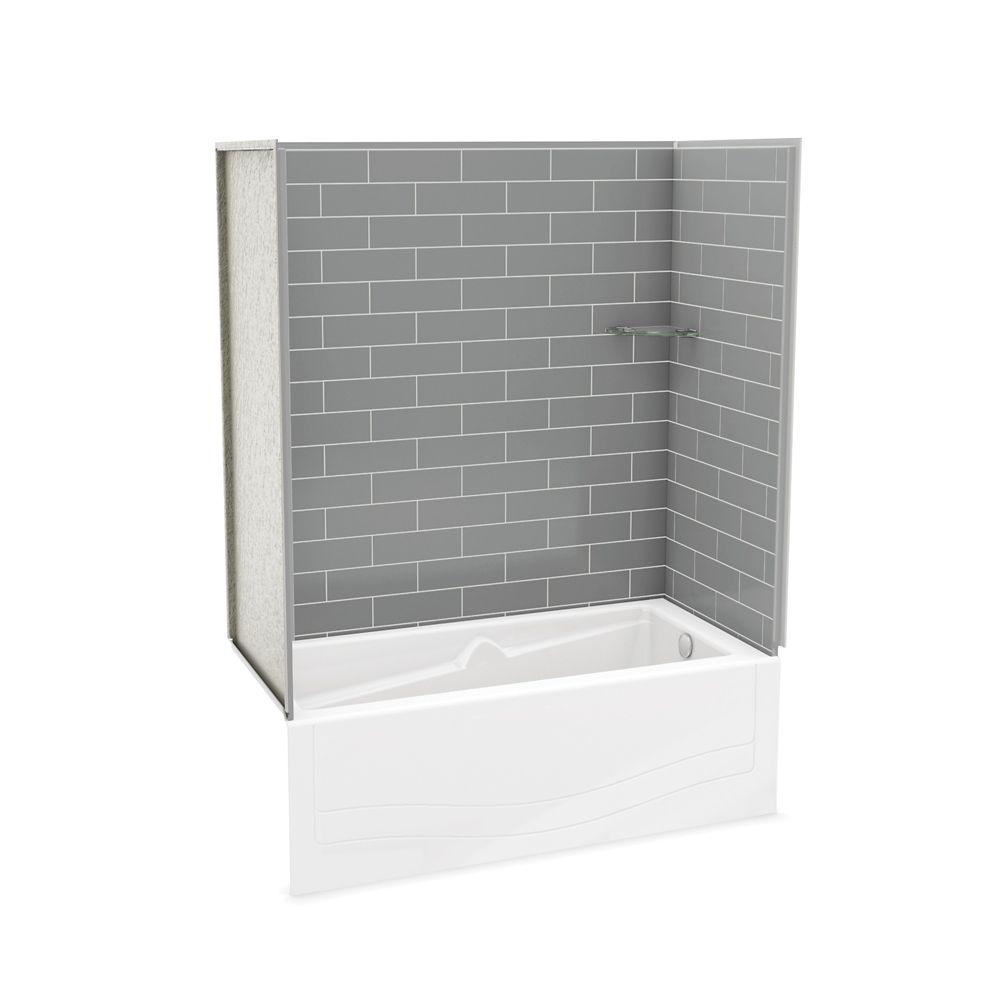 Utile Metro Ash Grey Tub Wall Kit with Avenue Tub Right Hand 106145-000-002-100 Canada Discount