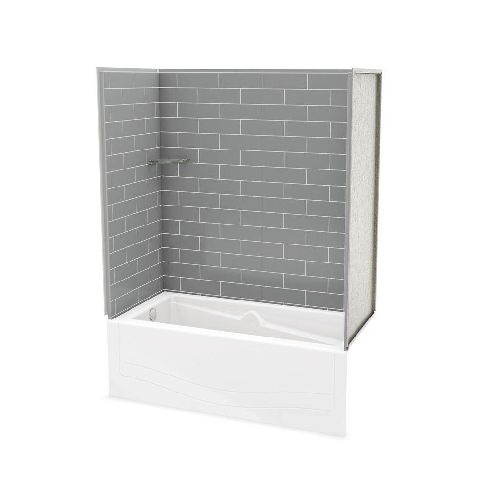 Utile ensemble de murs gris Cendre avec bain Avenue-gauche
