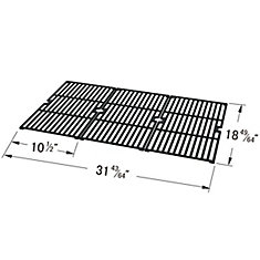 Cast Iron Cooking Grid for BBQTEK, Master Forge, Outdoor Gourmet and Sams for Gas Grill Models