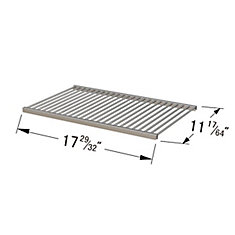 Stainless Steel Cooking Grid for BBQTEK, Life @ Home and Perfect Flame for Gas Grill Models