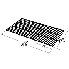 Cast Iron Cooking Grid for BBQTEK, Bond, Broil Chef, Life @ Home, Master Chef, Master Forge, Perfect Flame, and President's Choice for Gas Grill Models