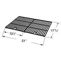 Cast Iron Cooking Grid for BBQTEK, BHG, Bond, Great Outdoors, Life @ Home, Perfect Flame, and Uniflame for Gas Grill Models