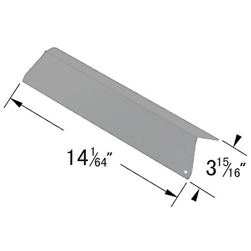 Stainless Steel Solid Heat Plate; GSF3016A for Bond, Kirkland, Nexgrill, Perfect Flame, Presidents Choice, River Grille, Royal Oak and Tera Gear Gas Grill Models