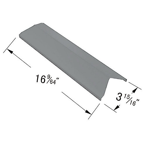 Stainless Steel Heat Plate for BOND, Kenmore, Master Forge, North American Outdoors Perfect Flame, Presidents Choice and Uniflame Gas Grill Models