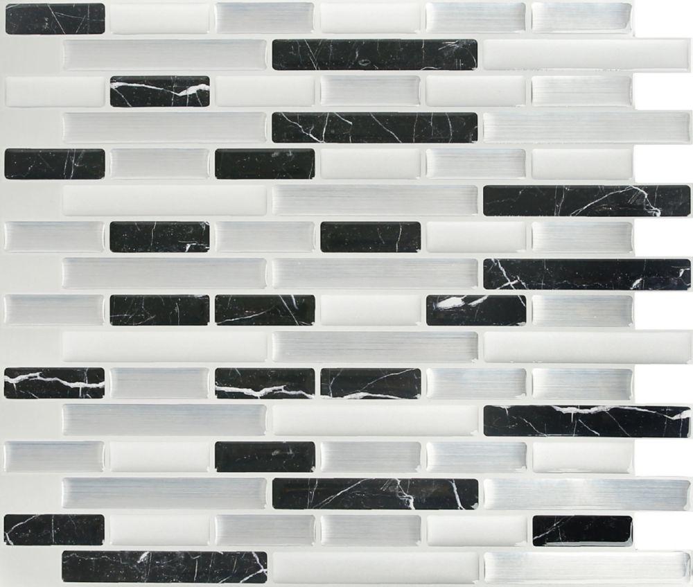 Midnight Marble  Stick-It Tile 11X9.25  Bulk Pack (8 Tiles)