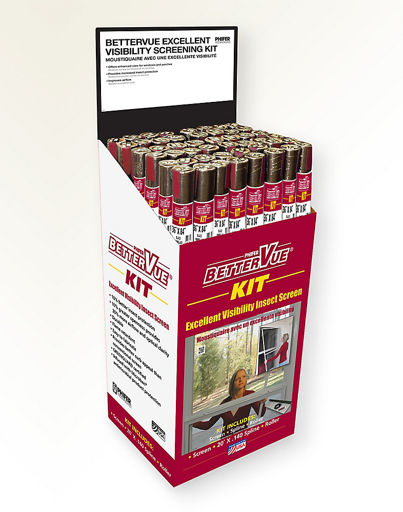 36-inch x 84-inch Bettervue Black Screen Kit