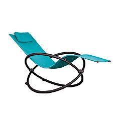 Chaise longue orbital - Single (vrai turquoise)