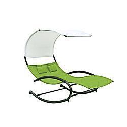 Vivere Double Chaise Rocker (Green Apple)