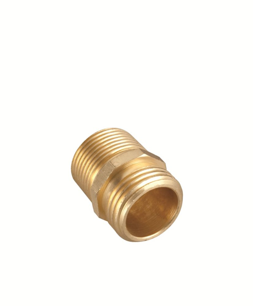 3/4-inch Brass Double Male Connector