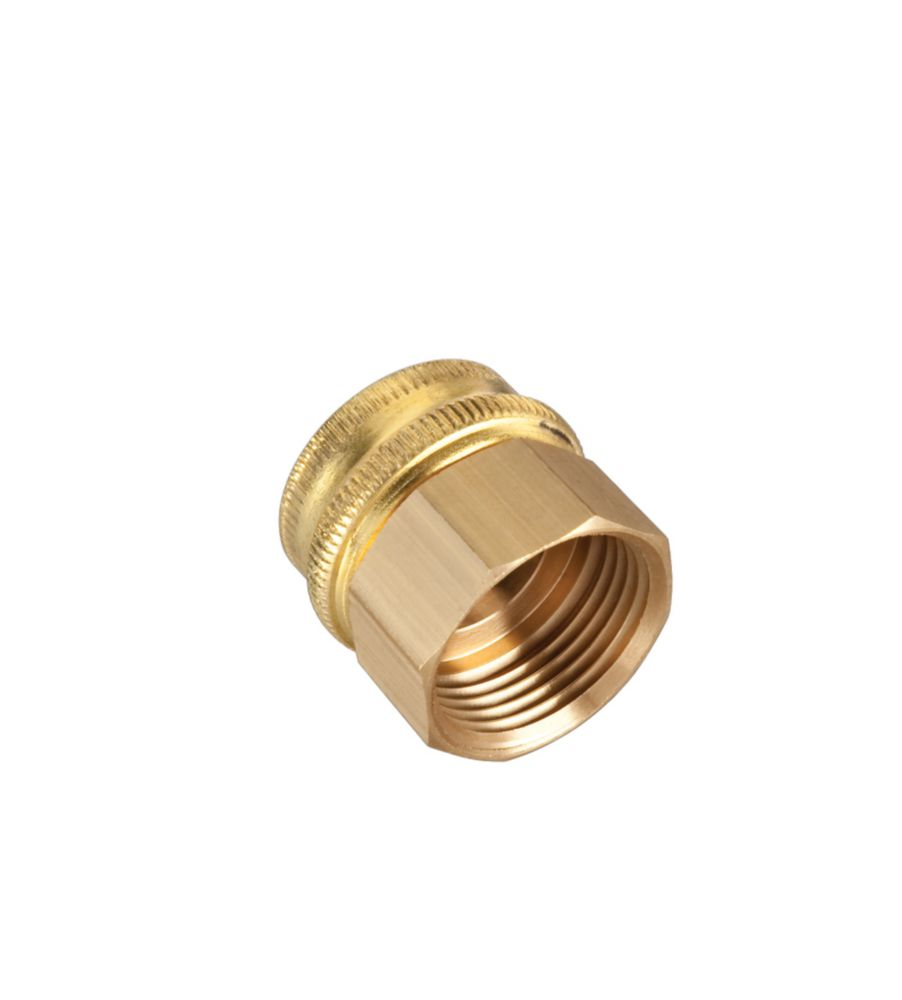 """Brass Double Female Connector -3/4"""""""