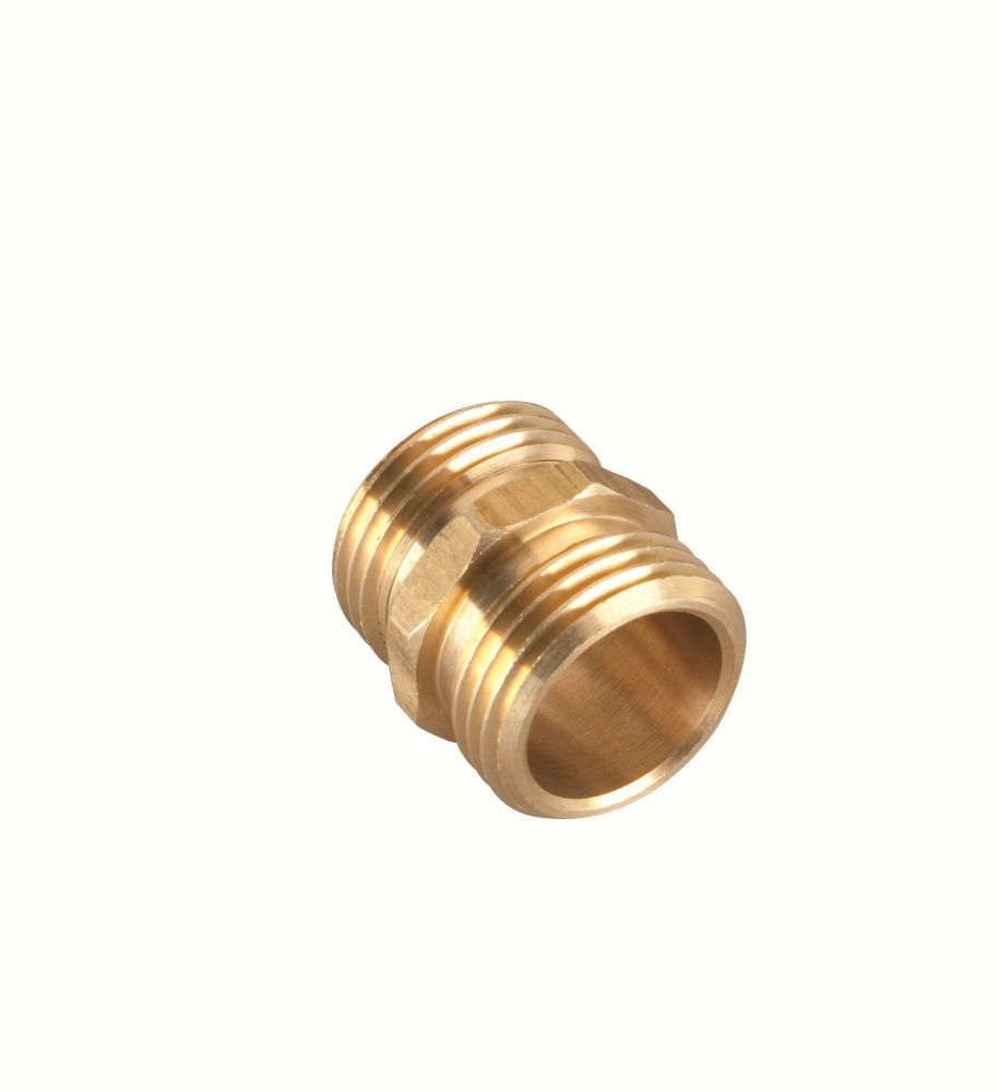 Rainwave brass double male connector the home depot canada