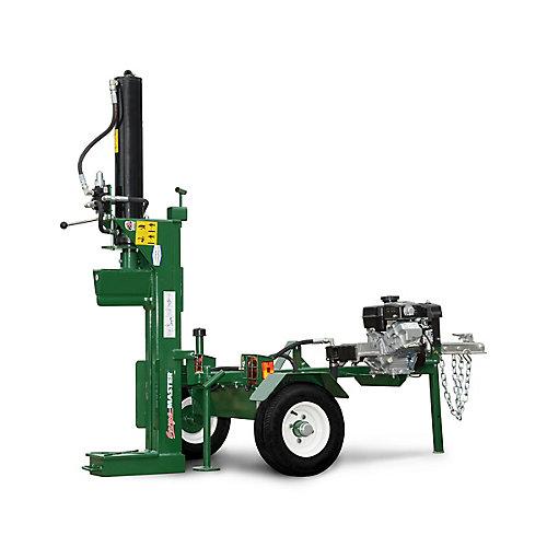Ensemble léger de fendeuse à bois hydraulique puissante de 25tonnes à orientation horizontale ou verticale fabriquée au Canada avec pompe à deux étages