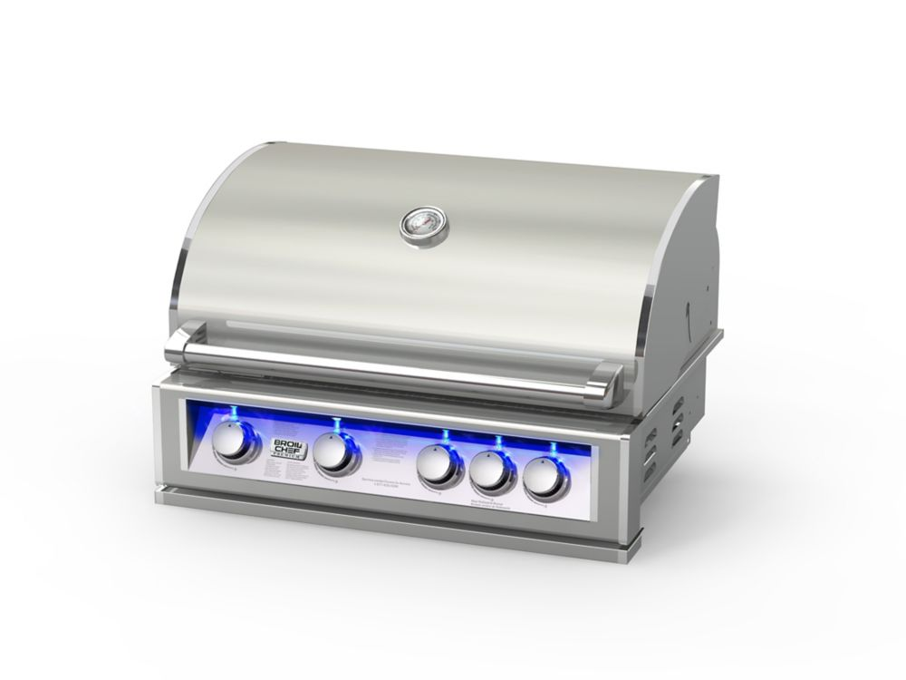 Broilchef 60,000 BTU 32-inch 5-Burner Stainless Steel Built-In Propane BBQ