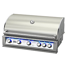 40-inch 6-Burner 87,000 BTU Stainless Steel Built-In Propane/Gas BBQ