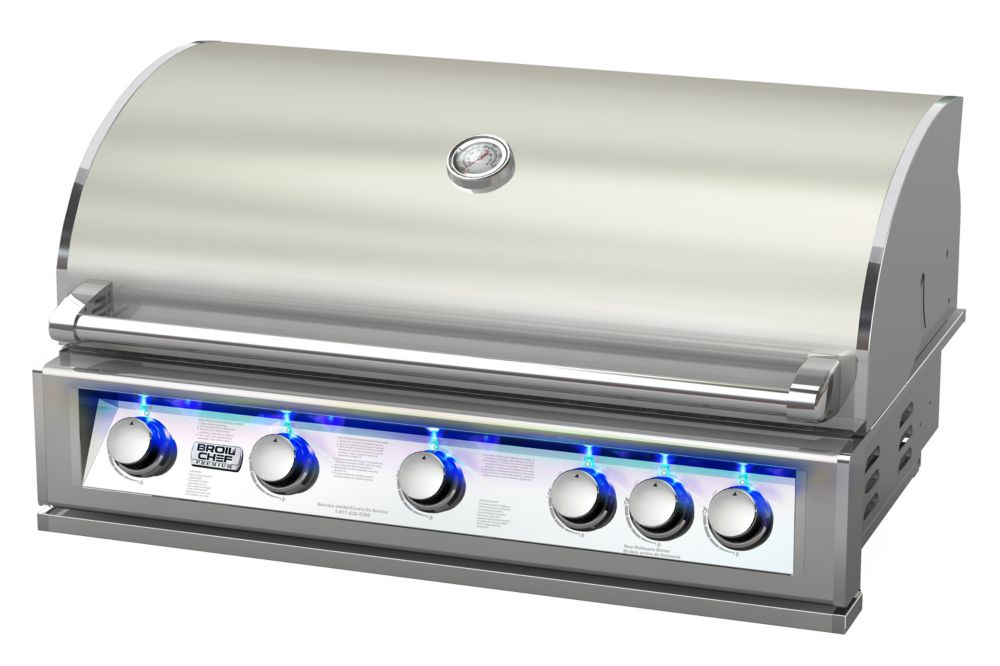 Broilchef 40-inch 6-Burner 87,000 BTU Stainless Steel Built-In Propane/Gas BBQ