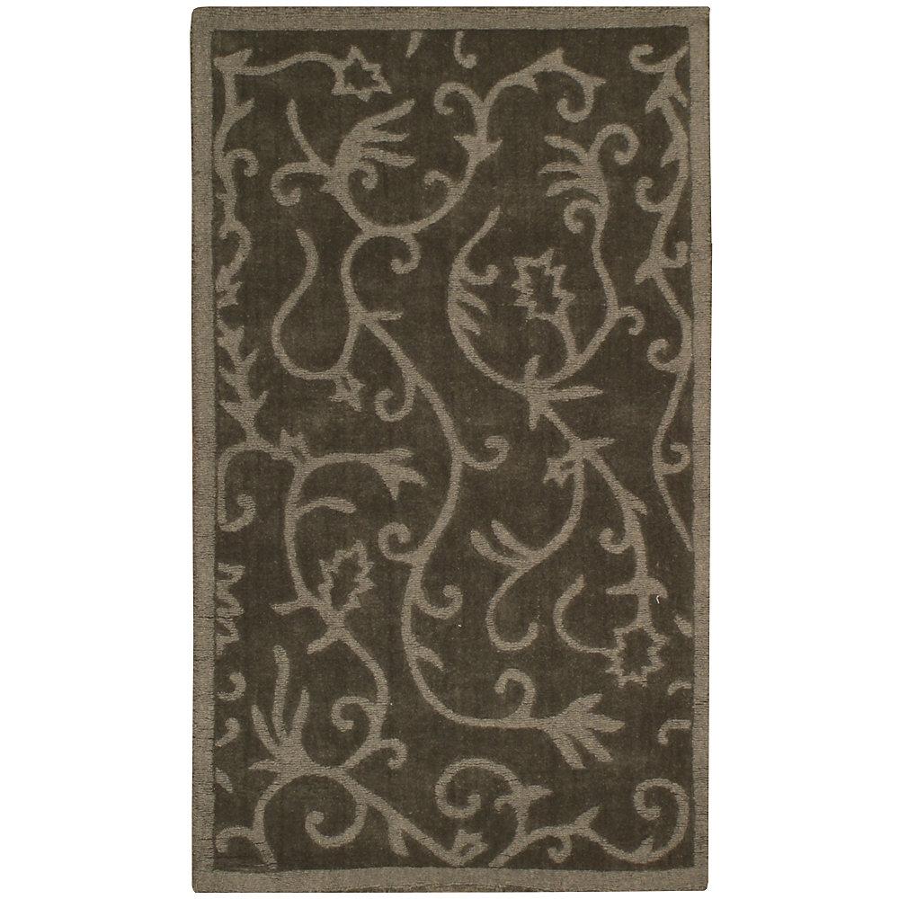 Carpette d'intérieur, 3 pi x 5 pi, style contemporain, rectangulaire, vert Lauren