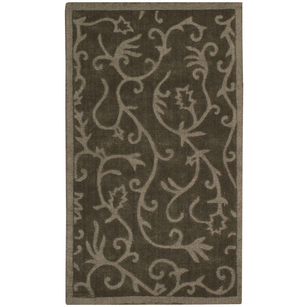 Anglo Oriental Lauren Green 3 ft. x 5 ft. Indoor Contemporary Rectangular Area Rug