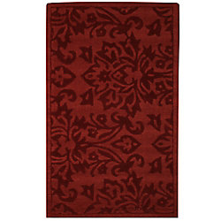 Anglo Oriental Daphne Red 3 ft. x 5 ft. Indoor Contemporary Rectangular Area Rug