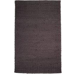 Anglo Oriental Carpette d'intérieur, 5 pi x 8 pi, à poils longs, style contemporain, rectangulaire, noir Faisal