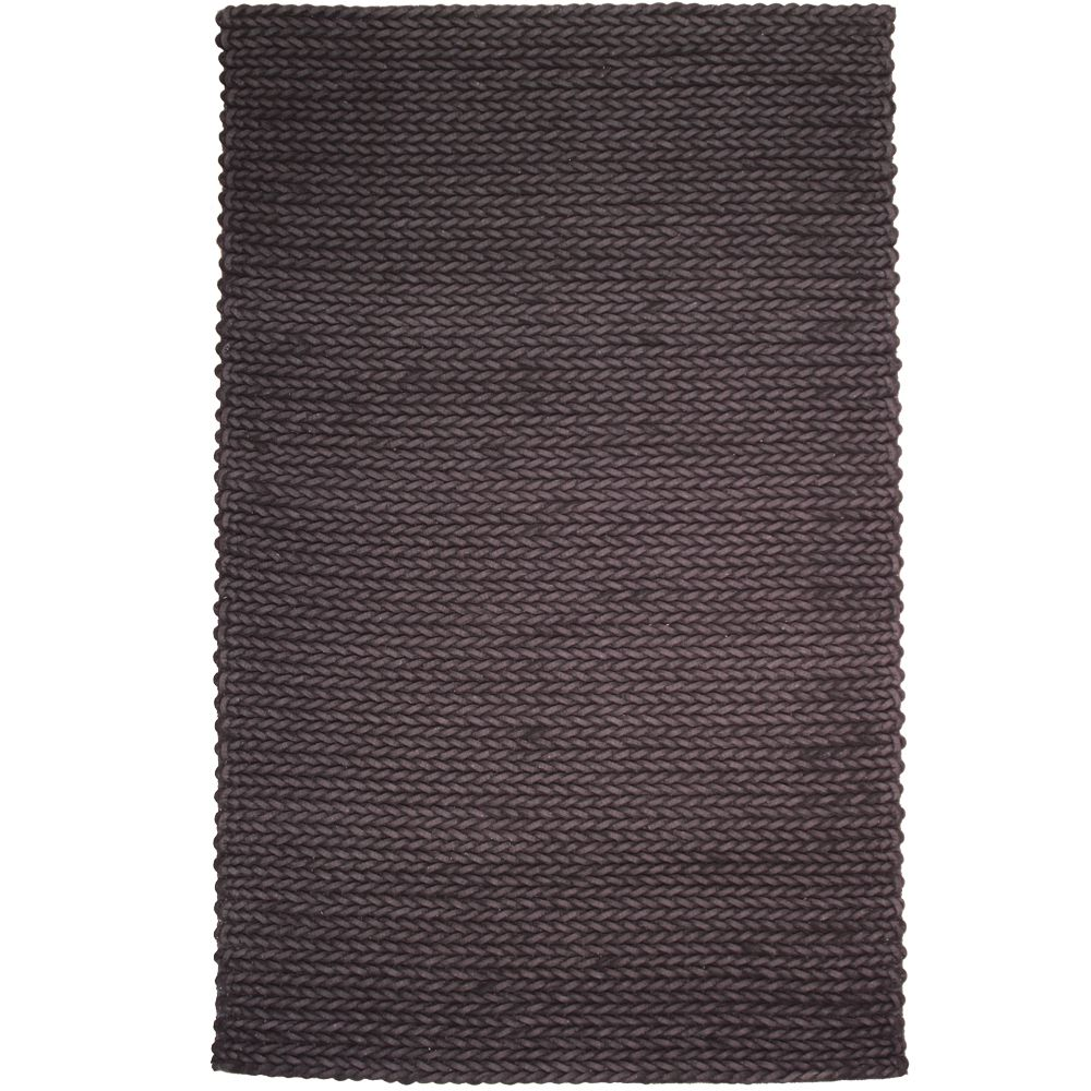 Faisal Black 7 ft. 9-inch x 10 ft. 9-inch Indoor Contemporary Rectangular Area Rug