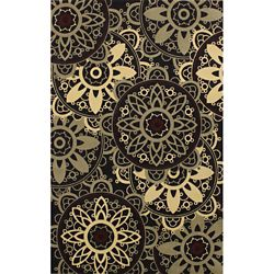 Anglo Oriental Catherine Grey 8 ft. x 10 ft. Indoor Contemporary Rectangular Area Rug