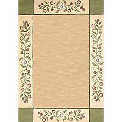 Anglo Oriental Carpette d'intérieur, 5 pi x 8 pi, style transitionnel, rectangulaire, havane Monteray
