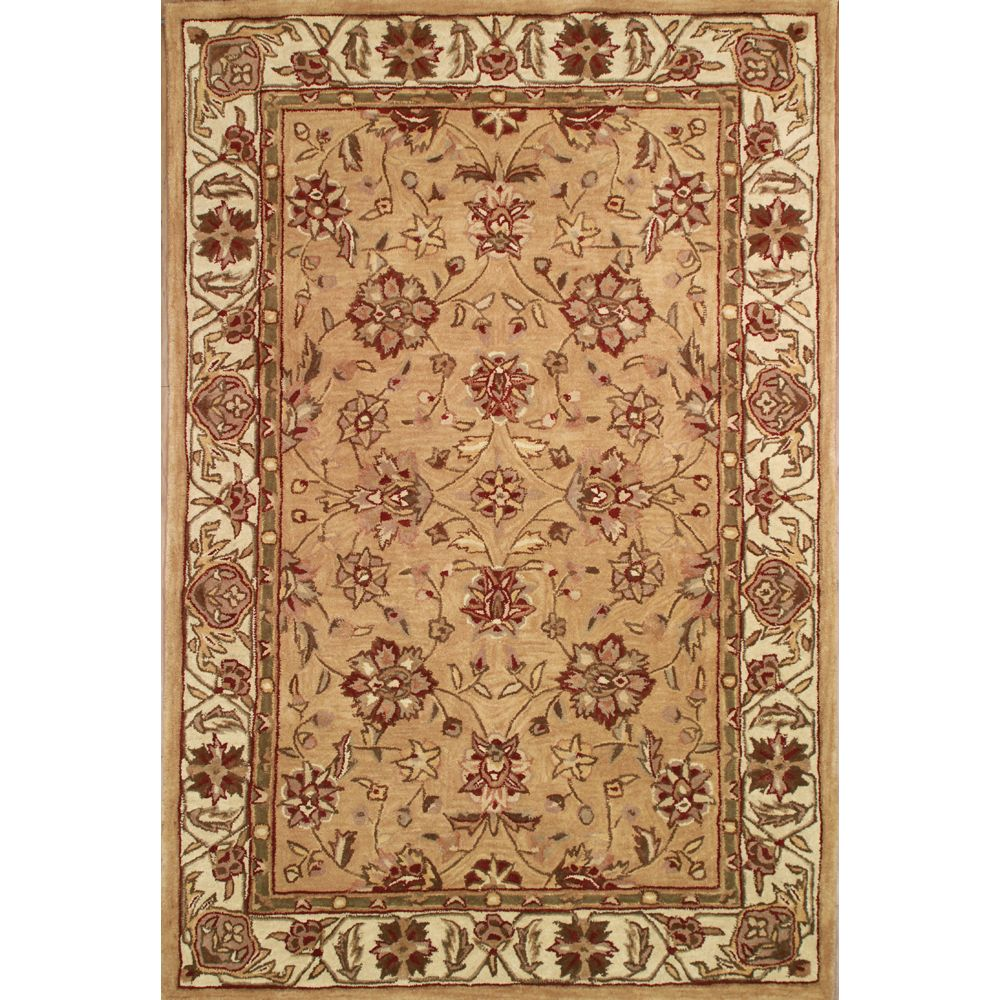 Anglo Oriental Beige Classic Area Rug 5 Feet X 8 Feet