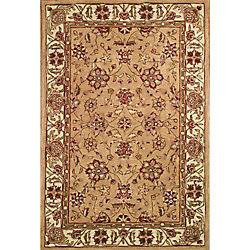 Anglo Oriental Carpette d'intérieur, 5 pi x 8 pi, style traditionnel, rectangulaire, havane Classic