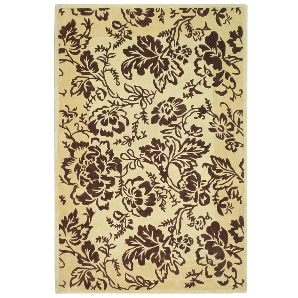 Anglo Oriental Quincy Beige Tan 5 ft. x 7 ft. 9-inch Indoor Contemporary Rectangular Area Rug
