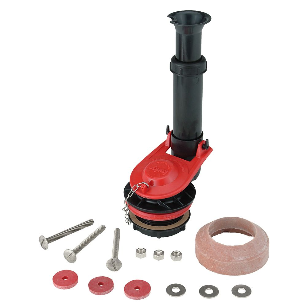 Korky Toilet Repair 2 Inch Adjustable FlushValve Kit with Tank-to-Bowl Gasket & hardware