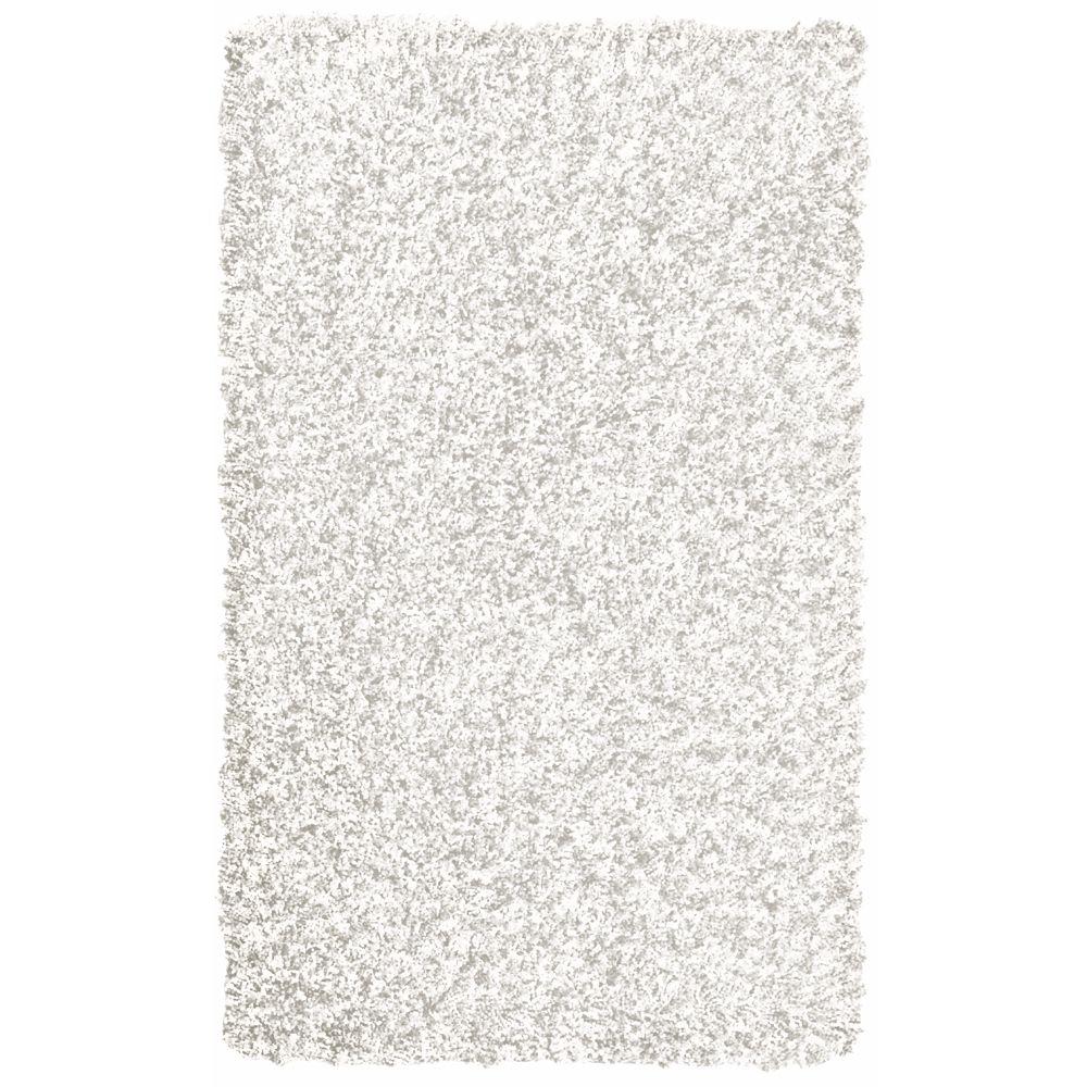Tapis Blanc Popcorn Shag 4 Pieds x 6 Pieds