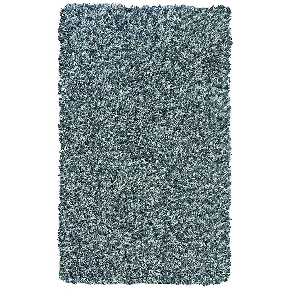 Carpette, 4 pi x 6 pi, à poils longs, rectangulaire, bleu Popcorn