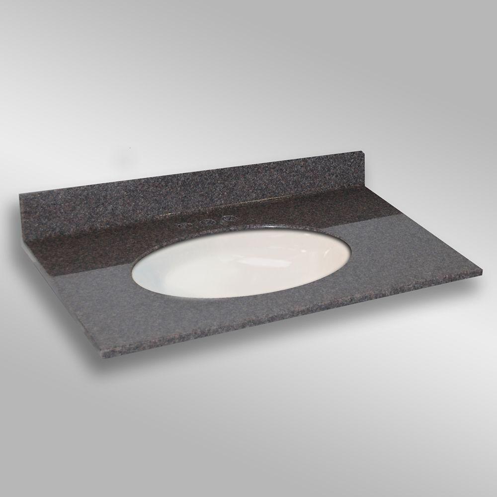 Ovale lavabo porcelain monté centré, PG901- Mystique- 37 x 22 pouces