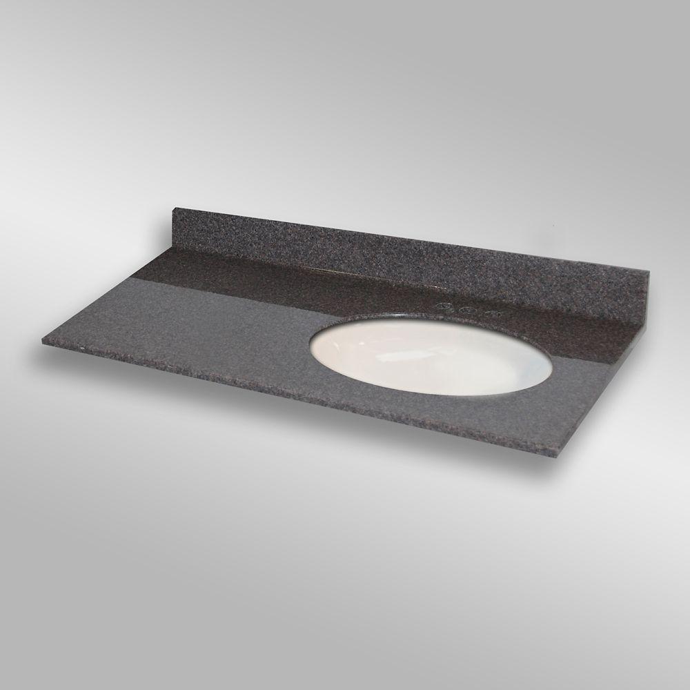Ovale lavabo porcelain monté a la main droite, PG901- Mystique- 49 x 22 pouces