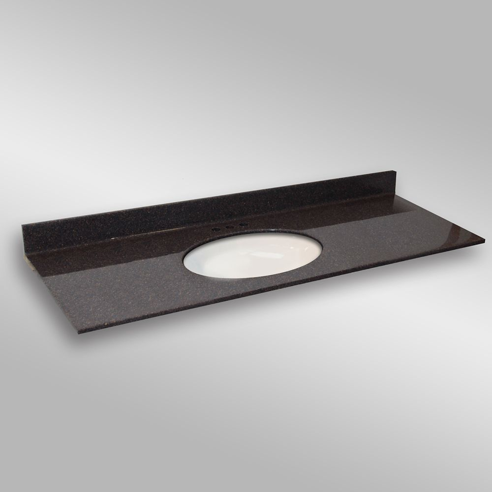 Undermount Oval Center Basin, PG133 Espresso-61x22 In. 61C OVAL PG133 Canada Discount