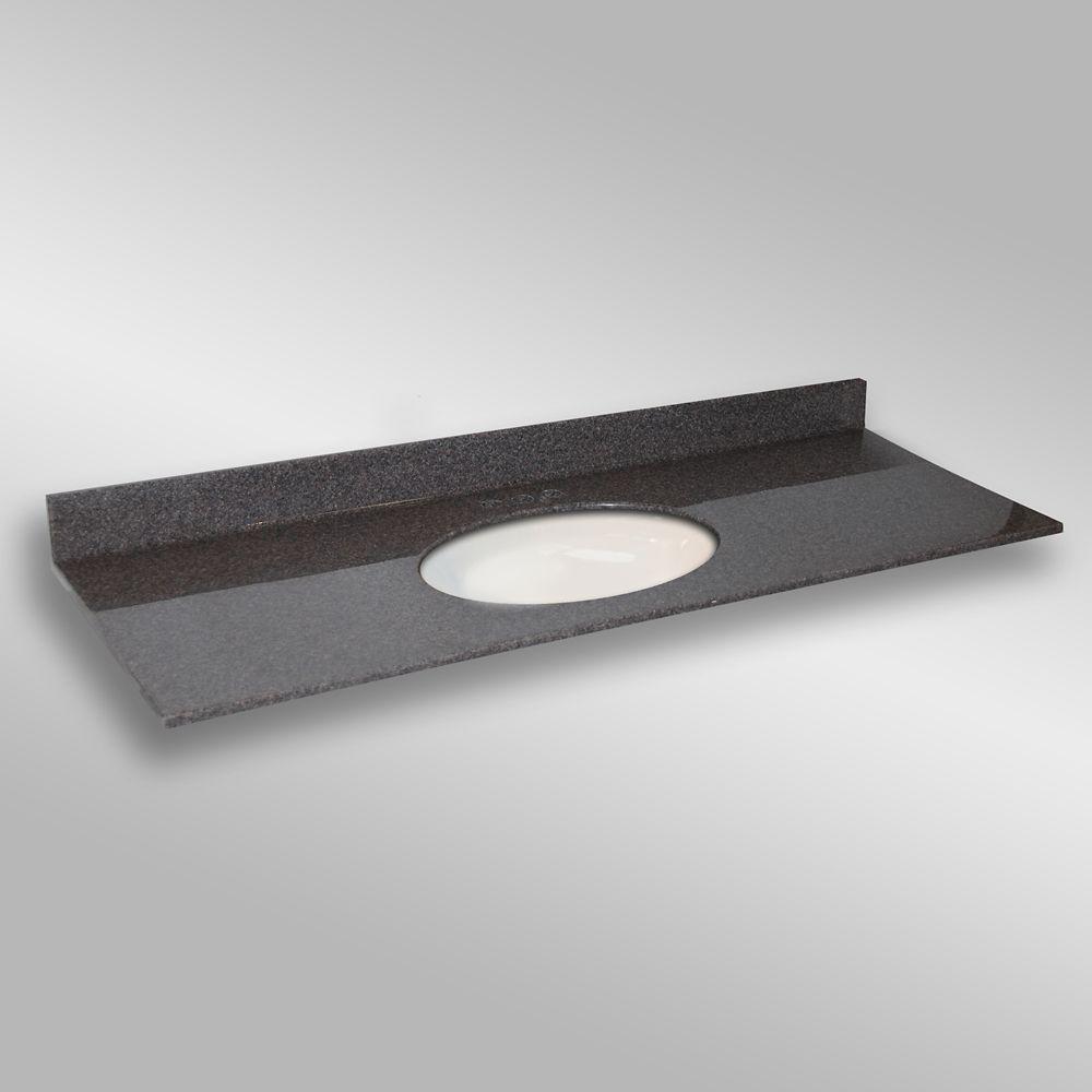 Ovale lavabo porcelain monté centré, PG901- Mystique- 61 x 22 pouces