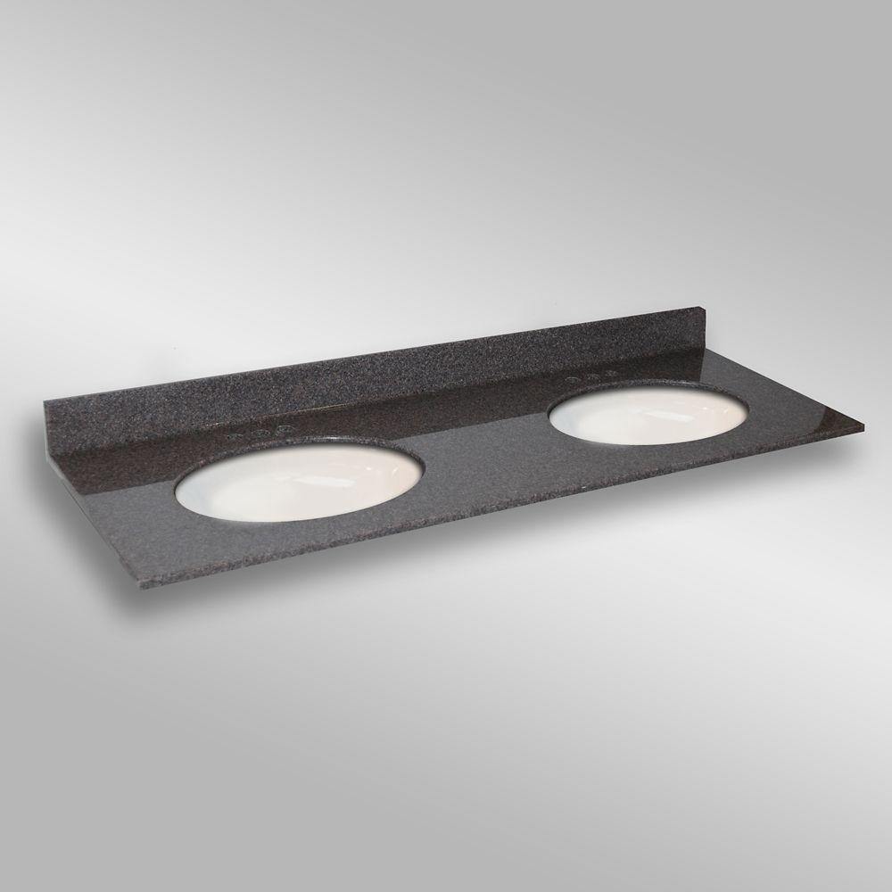 Ovale lavabo porcelain monté double, PG901- Mystique- 61 x 22 pouces