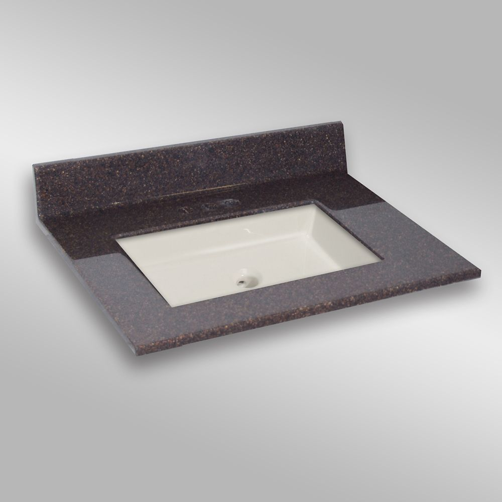 Undermount Square Center Basin, PG133 Espresso- 31 x 22 In. 31C SQUARE-PG133 Canada Discount