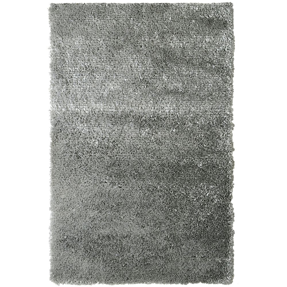 Grey Tulip Shag Area Rug 5 Feet x 7 Feet 6 Inches