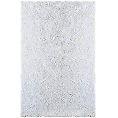 white tulip shag area rug 5 feet x 7 feet 6 inches